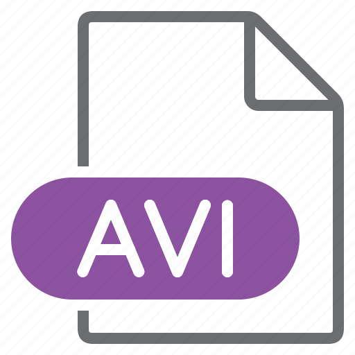 avi, create, extension, file, new, type icon