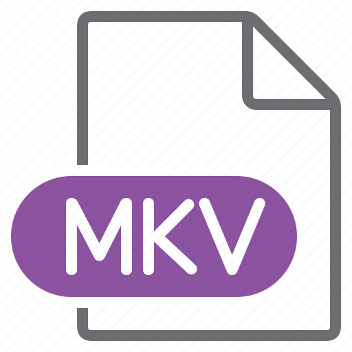 create, extension, file, mkv, new, type icon