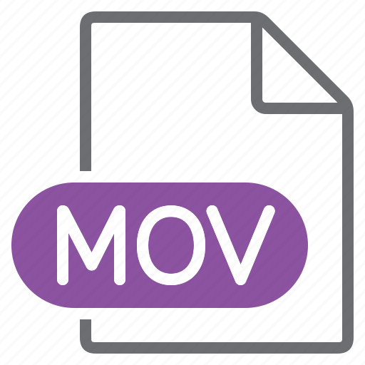 create, extension, file, mov, new, type icon