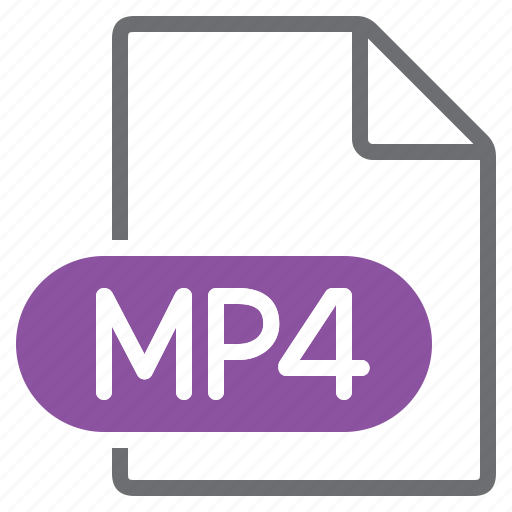 create, extension, file, mp4, new, type icon