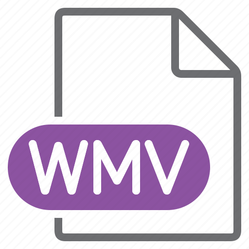 create, extension, file, new, type, wmv icon