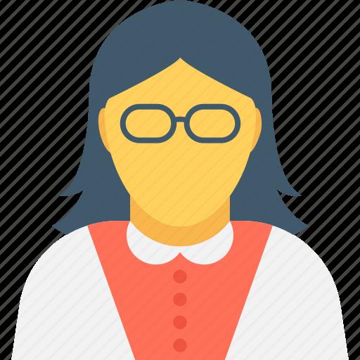 female manager, female secretary, teacher, tutor, woman icon