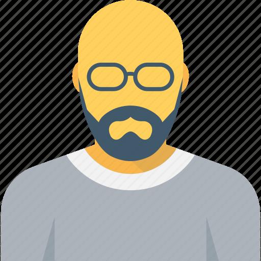 bald man, human, man, person, professional icon
