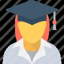 graduate, learner, scholar, schoolgirl, student