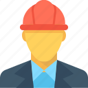 architect, avatar, construction worker, engineer, worker icon