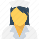 avatar, female nurse, lady doctor, medical assistant, nurse icon
