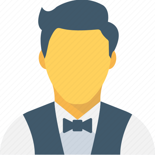 butler, restaurant servant, waiter, waiter serving, young boy icon