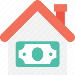 bank, building, currency, house for sale, mortgage icon