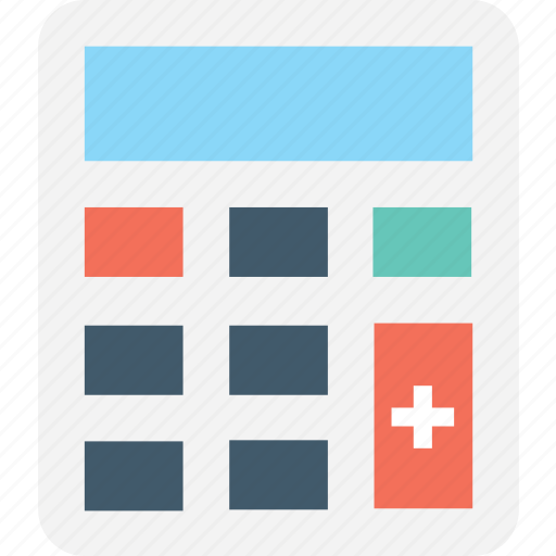 accounting, calc, calculating device, calculator, digital calculator icon