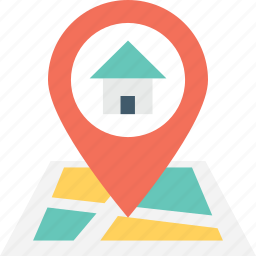 gps, home, house location, location, map pin icon