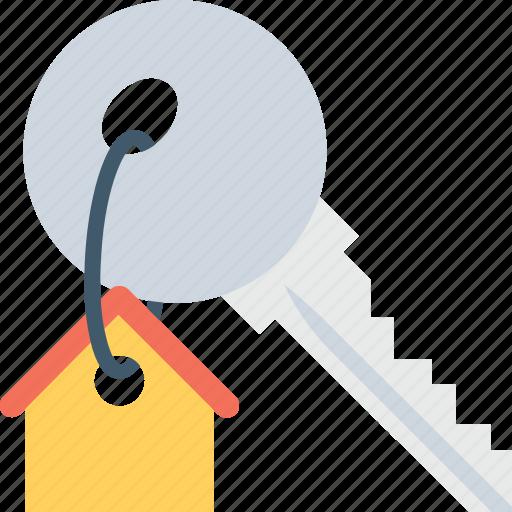 house key, key, keychain, lock key, security icon