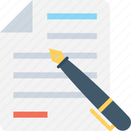 agreement, application, contract, document, pen icon