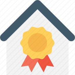 certification, document, insurance, property, reality certification icon
