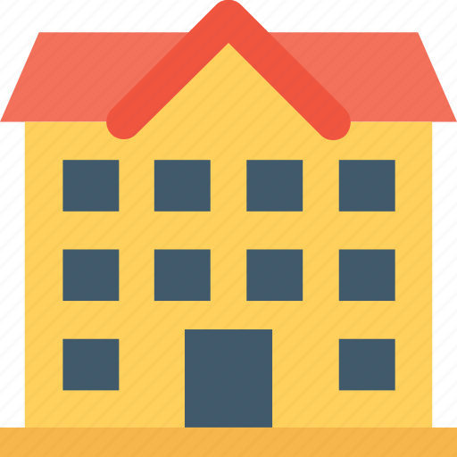 building, cottage, hotel, lodge, museum icon