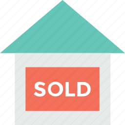 for sale, home, house, house sold, sold icon