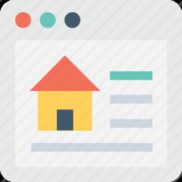 estate website, marketing, online property, real estate, website icon