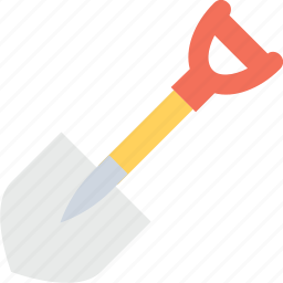 construction tool, digging, planting, rake, shovel icon