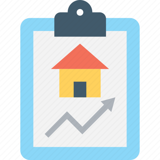 graph, housing market, property graph, property value, real estate icon