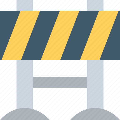 barrier, construction barrier, road sign, roadblock barrier, traffic barrier icon