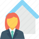 architect, homeowner, investor, property adviser, property agent icon