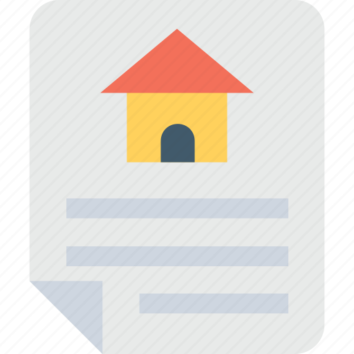 contract, loan agreement, loan application, mortgage, property paper icon