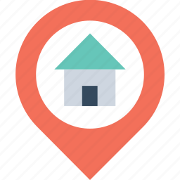 gps, home location, location holder, map pin, navigation icon