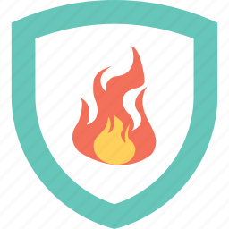 explosion protection, fire sign, flammable, industrial safety, shield icon