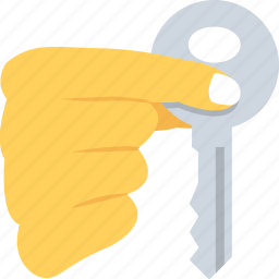 hand, house key, key, mortgage, owner icon