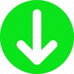 arrow bottom, arrow down, bottom, down, green arrow icon