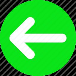 go left, green arrow, left arrow icon