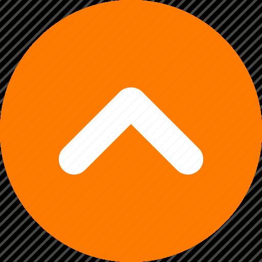 arrow, arrow head, orange, orange arrow, top, up icon