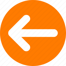 arrow, left, move left, orange, slider orange icon