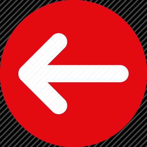 Red arrow icon left