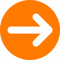 arrow, direction, move right, orange, right arrow, slider arrow icon