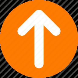 arrow, move up, orange, orange arrow, top arrow, top orange icon