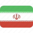 iran, rectangle, round icon