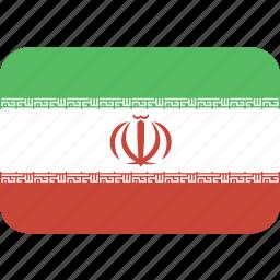 iran, rectangle, round icon