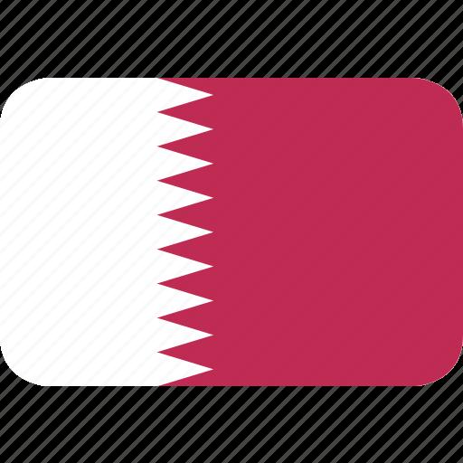 qatar, rectangle, round icon