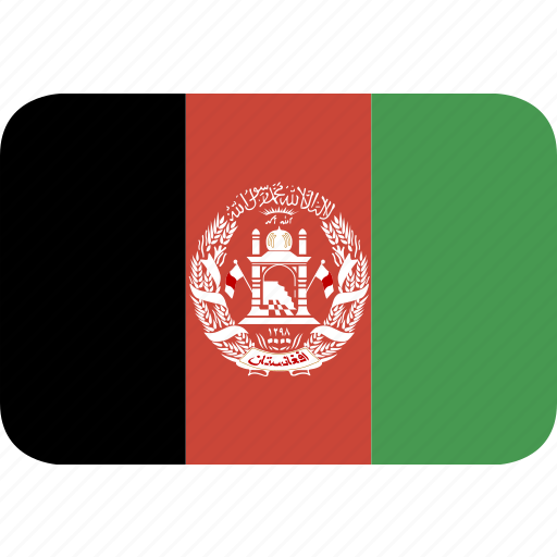 afghanistan, rectangle, round icon