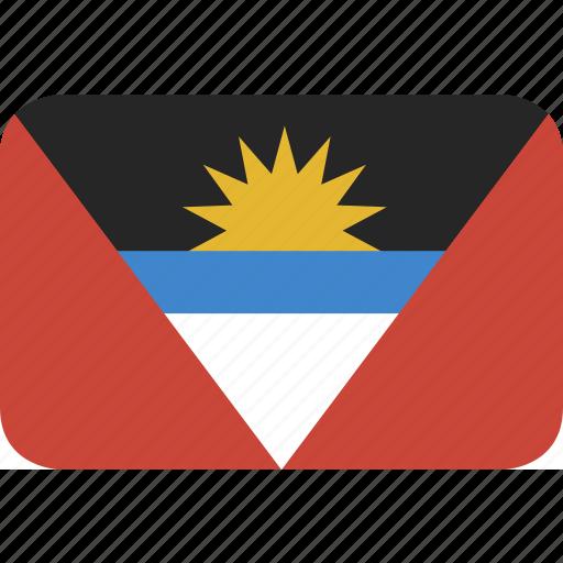 and, antigua, barbuda, rectangle, round icon