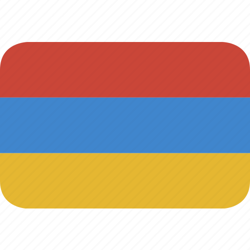 armenia, rectangle, round icon