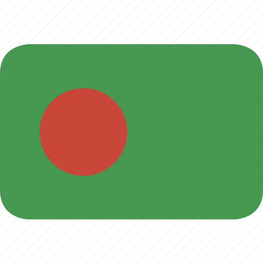 bangladesh, rectangle, round icon