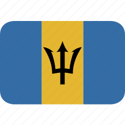 barbados, rectangle, round icon