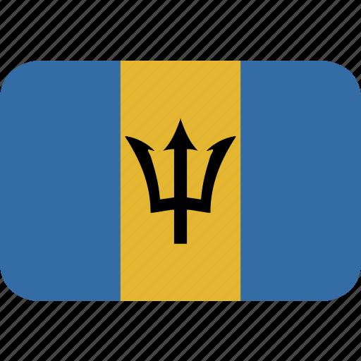 barbados, rectangle, round icon