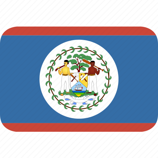 belize, rectangle, round icon