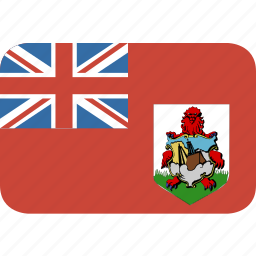 bermuda, rectangle, round icon