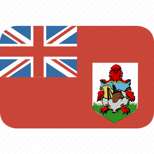 bermuda, rectangle, round icon