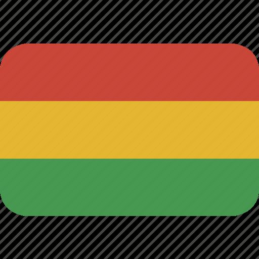 bolivia, rectangle, round icon