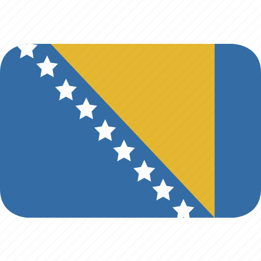 and, bosnia, herzegovina, rectangle, round icon