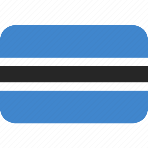 botswana, rectangle, round icon